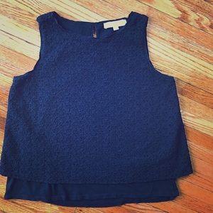 LOFT eyelet sleeveless blouse